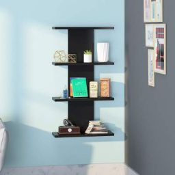 Klaxon Scott Home Decor Wall Shelf-Black