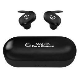 Matlek Bluetooth Earbuds Wireless Earphone with Microphone Headphone