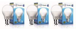 Wipro Tejas Base B22 7-Watt LED Bulb (Pack of 3, Cool Day Light)