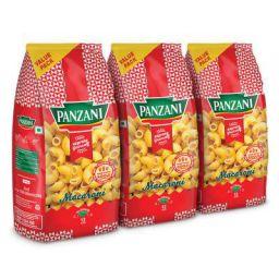 Panzani Express Macaroni Pasta, 3 x 400 g (Pack of 3)