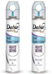 Dabur Sanitize Air Sanitizer | Protects from Air Borne Germs - 240 ml (Pack of 2)