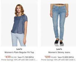 Levi's Women's Clothing Upto 80% Off