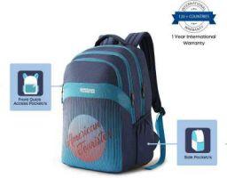 American Tourister Medium 28 L Backpack Crone Backpack 04-Blue