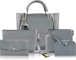 Fargo PU Leather Latest Handbags For Women's Ladies Combo Of 5