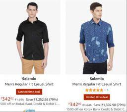 Solemio Men's Casual Shirt Upto 81% Off