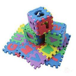 FIN 36 Pieces Mini Puzzle Foam Mat for Kids