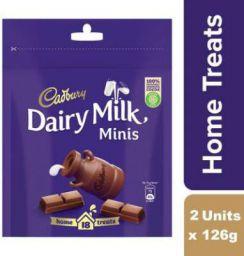 Cadbury Dairy Milk Chocolate Home Treats 126g (Pack of 2) Bars (2 x 126 g)