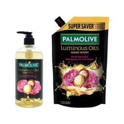 Palmolive Luminous Oils Invigorating Liquid Hand Wash - 500 ml Pump with Refill Pack - 750 ml