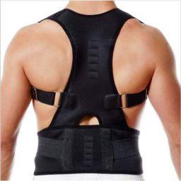 ZURU BUNCH® Black Posture Brace Back Support For Neck & Back Pain Relief For Men & Women (XXL)