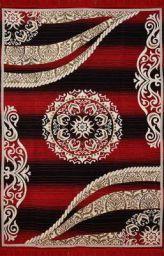 Vram 6D Designer Superfine Exclusive Velvet Carpet- 5 Feet x 7 Feet Black-Maroon