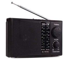 iBELL FM180U Portable FM Radio, USBSDMP3 Player & Dynamic Speaker 4 Band,Black