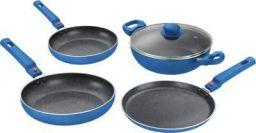 Prestige Omega Festival Pack Build Your Kitchen 4 Pcs Induction Bottom Cookware Set (Aluminium 4 - Piece)