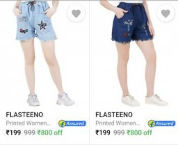 Women's Shorts Upto 86% Off