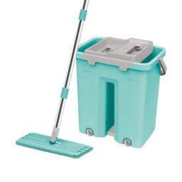 Spotzero by Milton Plastic Flat Mop (Aqua Green)