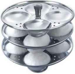 Kitchen Delli Stainless Steel 3-Rack Idli Stand, Makes 12 Idlis