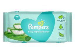 Pampers Baby Gentle Wet Wipes with Aloe Vera, 72 Wipes