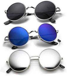 FDA COLLECTION Gradient, Mirrored, UV Protection Round, Round, Round Sunglasses
