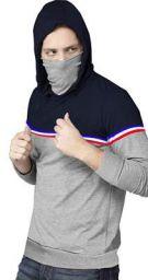 Fenoix Mens Hooded Neck Cotton Mask Tshirts