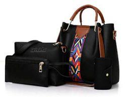 Envias Leatherette Latest Handbags For Women's Ladies Combo Of 4