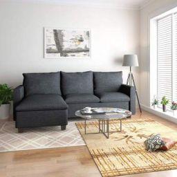 @Home By Nilkamal Napster Reversible Lounge Sofa (Grey)