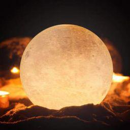 Lexton Moon Shape Led Light with 2 Colour Mode (Warm White, 12Cm, Pack of 1)
