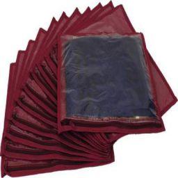 BW Set Of 12 Non-Woven Saree Cover - Maroon(Maroon)