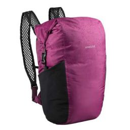 Forclaz 8560419 Cotton-Poly-Jersey Compact Waterproof Backpack Travel 100, 20 Litre