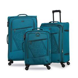 Verage Oslo Green Small, Medium and Large Soft Light Weight Suitcase Luggage Bag