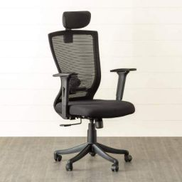 Home Centre Antonio Solid High Back Mesh Office Chair (Black)