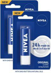 NIVEA Essential Care Lip Balm Crme(Pack of: 2, 9.6 g)