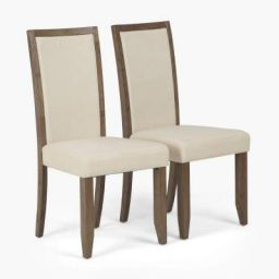 Home Centre Crystal Dining Chair (Set of 2 Pcs) (Beige)