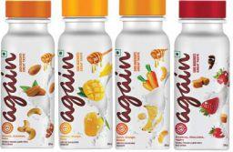 Again Milkshake /Drinkable Yoghurt - Starter Pack with All 4 variants(200 ml X 4)