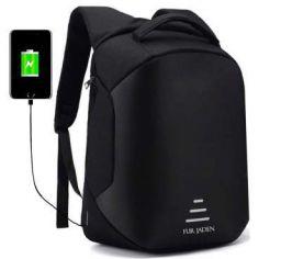 Fur Jaden Anti Theft Backpack with USB Charging Port 15.6 Inch Laptop Bagpack Waterproof  Bag