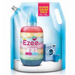 Godrej Ezee 2-in-1 Liquid Detergent + Fabric Conditioner (Fabric Softener) - 2kg Pouch, For Regular Clothes