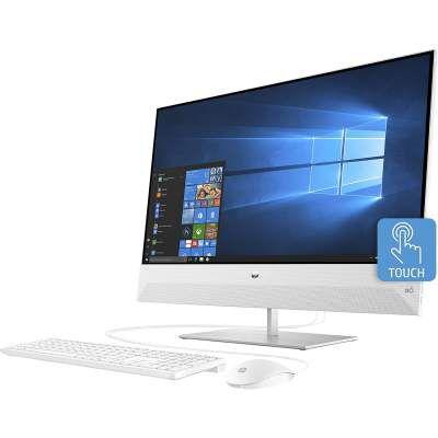 HP Pavilion Ryzen 5 AIO 23.5 FHD Touchscreen Desktop (16 GB/512 GB SSD+1 TB HDD/Vega 8 Graphics/Win 10 Home/Snowflake White/5.59kg), 24-xa1018in