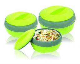 Princeware TULIP 3Pcs Casserole Set - Plastic - Green