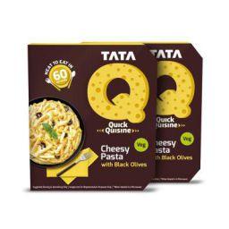 Tata Q Cheesy Pasta with Black Olives, 2 x 290 g