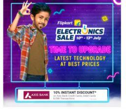 Flipkart Electronics Sale: 10th to 13th July