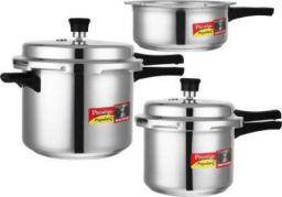Prestige Popular Plus 2 L, 3 L, 5 L Induction Bottom Pressure Cooker (Aluminium)