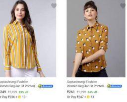 Womens Shirts Upto 86% off