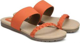 Bata Women Orange Flats Sandal