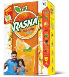 Rasna Fruit Fun 32 Glass monocarton, Masala Orange Pack of 5