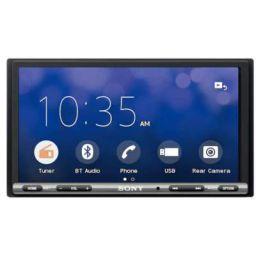 Sony Combo of XAV AX-3500 17.6-cm (6.95) Bluetooth Media Receiver with WebLink Cast and 8 LED Car Reverse Camera