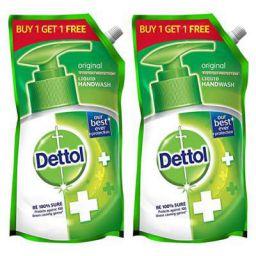 Dettol Original Germ Protection Handwash Liquid Soap Refill, 750 ml, Buy 1 Get 1