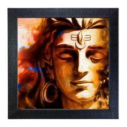 Sehaz Artworks Lord Shiva Wall Photo Printed Painting (Black SZA-Shiva_005)