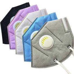 Latin K-N95 Masks With Respirator With Double Air filter Washable Reusable Non Woven Easy to Breath Pack of 8 White