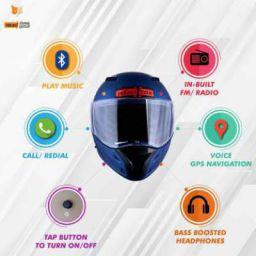 HEADFOX az Bluetooth N1 Motorbike Helmet (Blue)