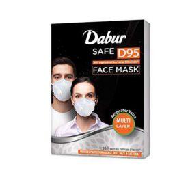 Dabur Safe D95 face mask   Provides protection against Dust, Haze and Bacteria