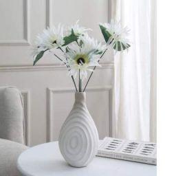 Fourwalls Artificial Mini Chrysanthemum Flower Bunches (40 cm Tall, 6 branches)