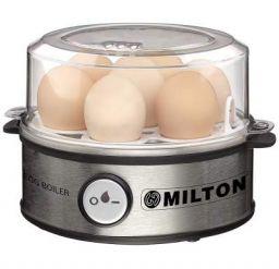 MILTON Smart Egg Boiler - 360 Watt, (Transparent and Silver Grey) - Boil Up to 7 Eggs